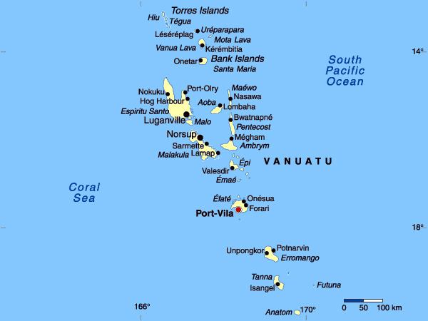 Map Of Vanuatu Vanuatu Map Vidianicom Maps Of All Countries - Vanuatu map