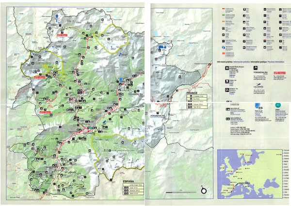 Large detailed tourist map of Andorra. Andorra large detailed tourist map.