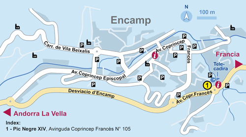 Road map of Encamp Encamp city road map Vidianicom Maps of all