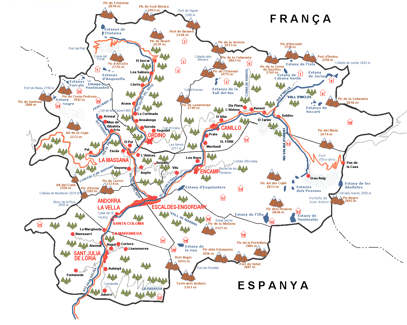Impressum - Where is andorra in europe map