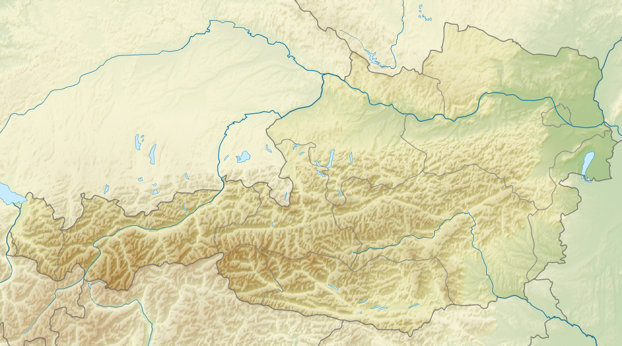 Austria detailed relief location map Detailed relief location map