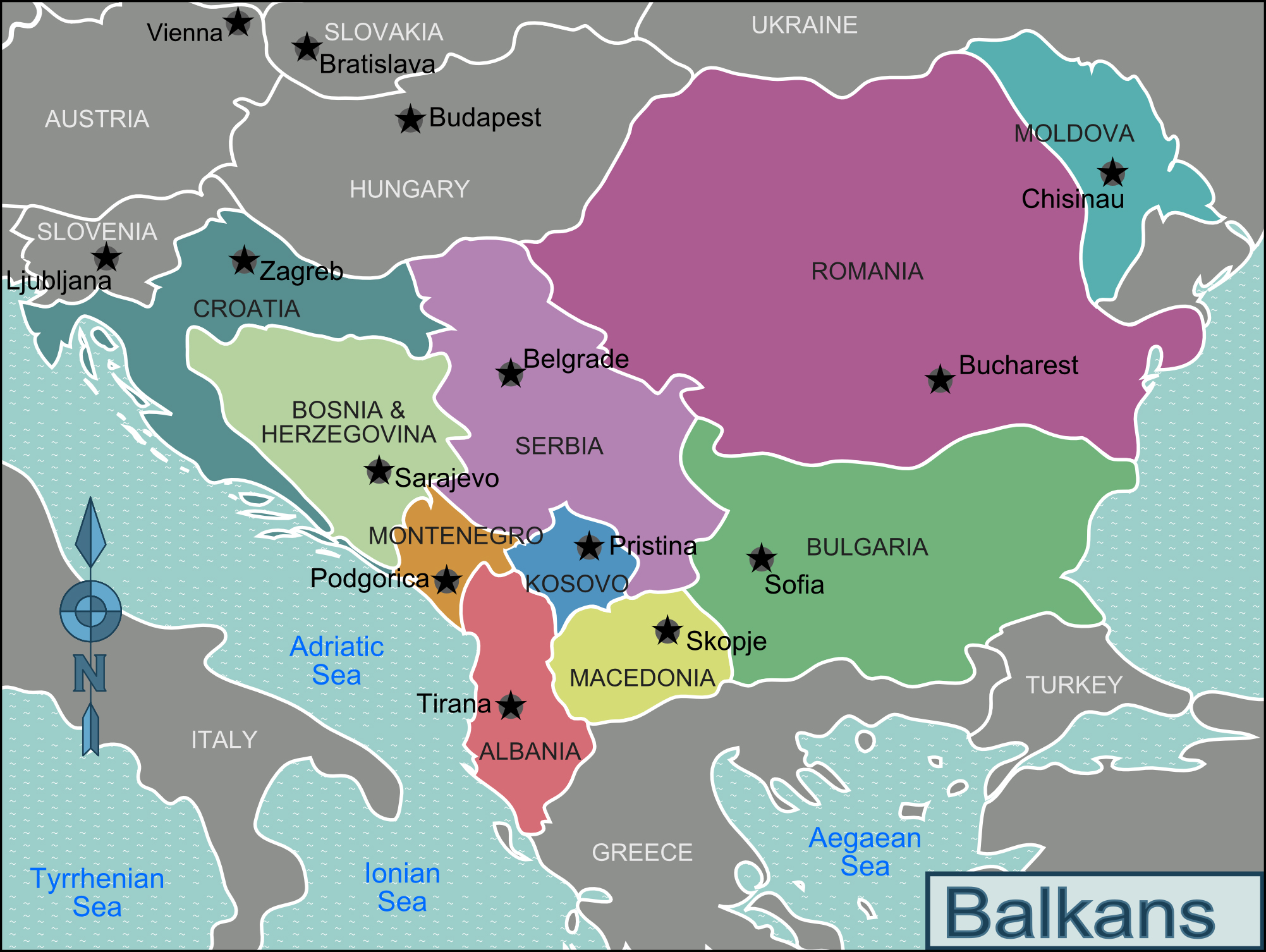 Large regions map of balkans balkans large regions map vidiani large regions map of balkans balkans large regions map publicscrutiny Choice Image