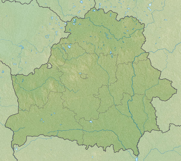 Large relief map of Belarus. Belarus large relief map.