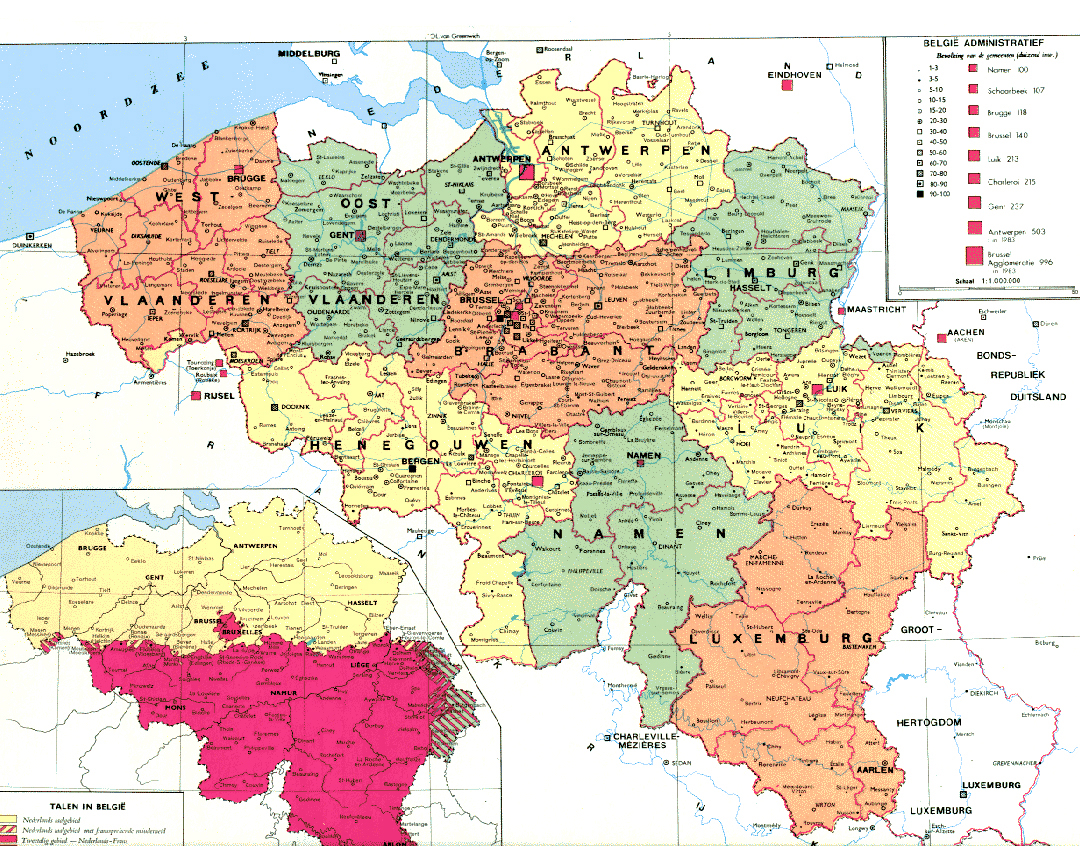 Administrative map of Belgium Belgium administrative map Map