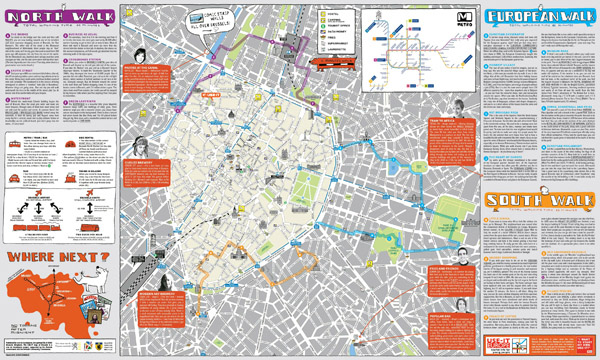 Large detailed tourist map of Brussels city center.