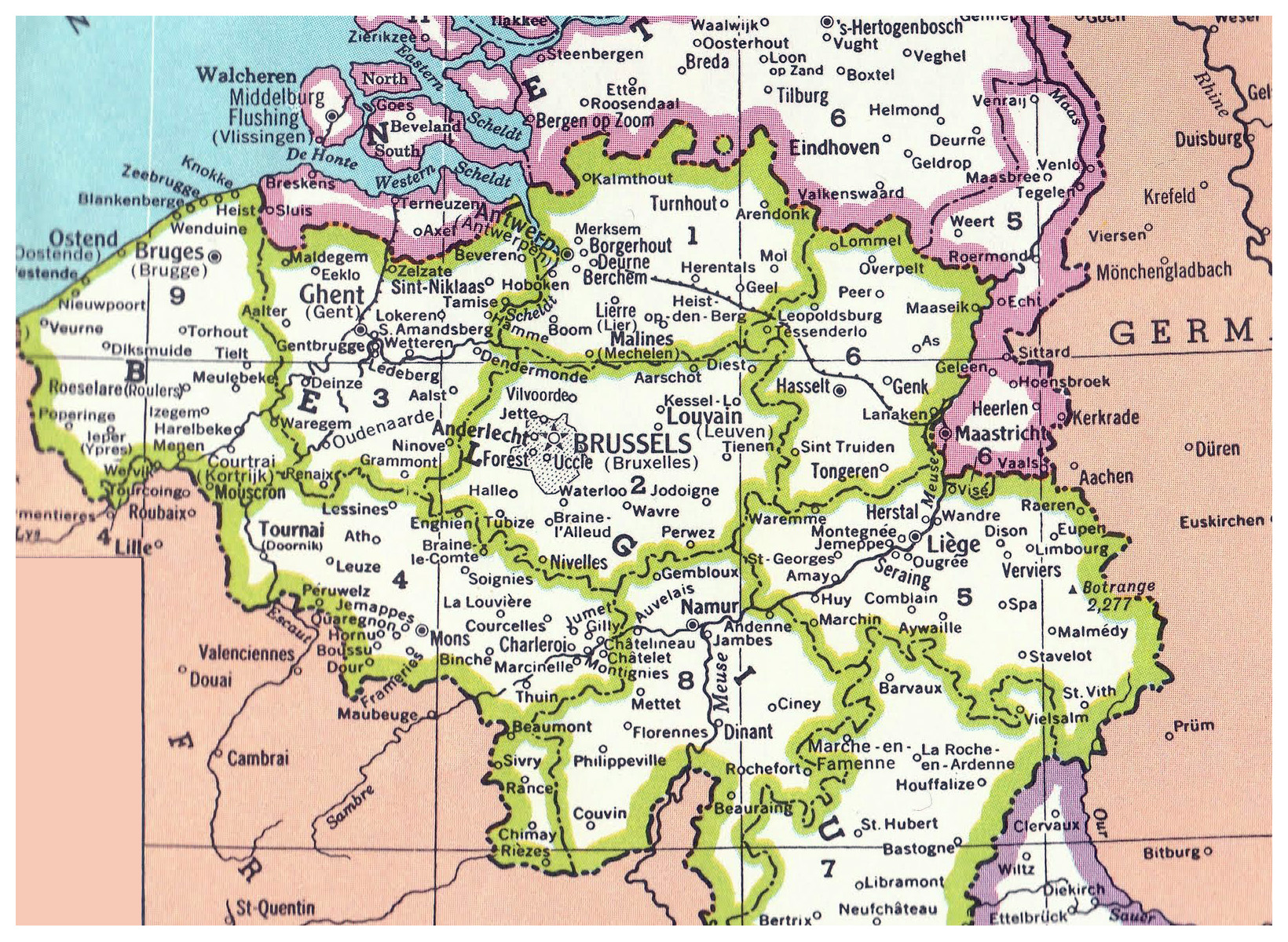 Detailed Belgium administrative map Belgium detailed administrative