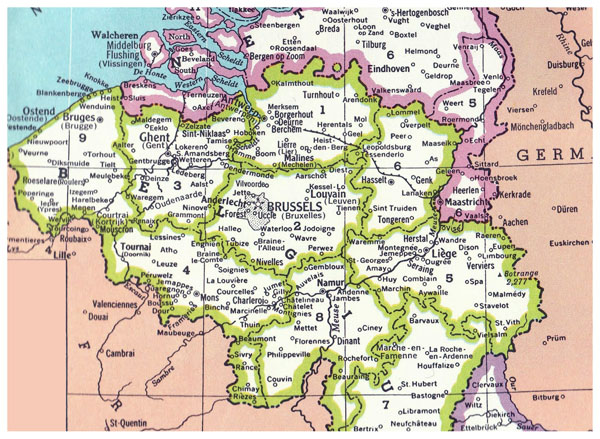 Detailed Belgium administrative map. Belgium detailed administrative map.