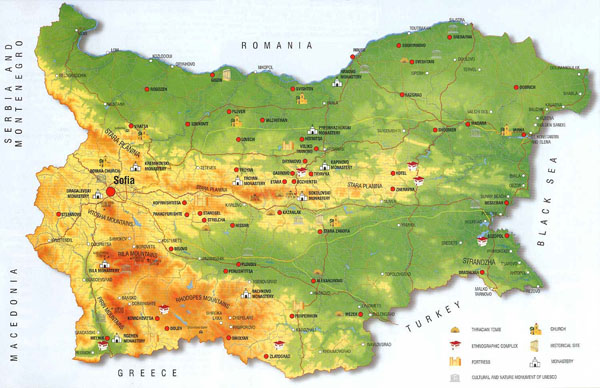 Detailed culture history map of Bulgaria.