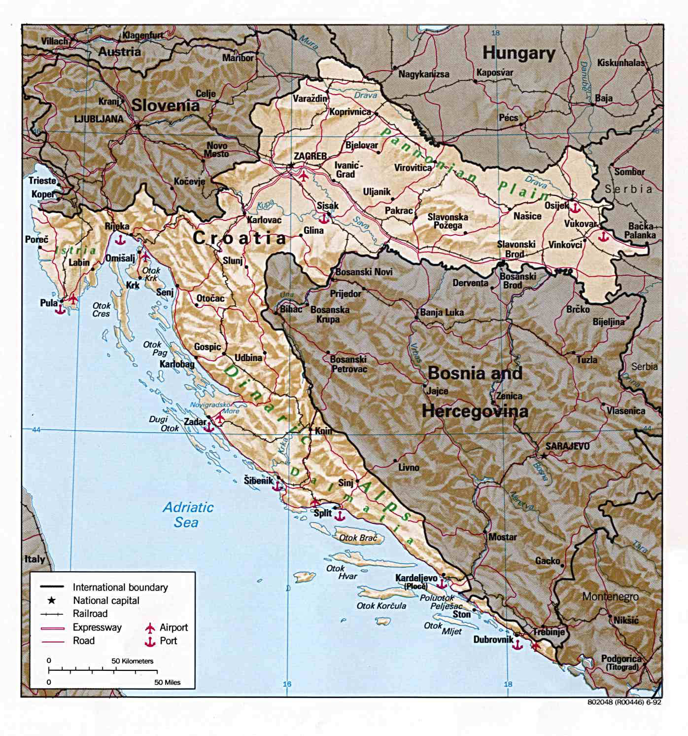 Relief and road map of Croatia. Croatia relief and road map ... on italian autos, cuba autos, israel autos, peru autos, argentina autos, new zealand autos,