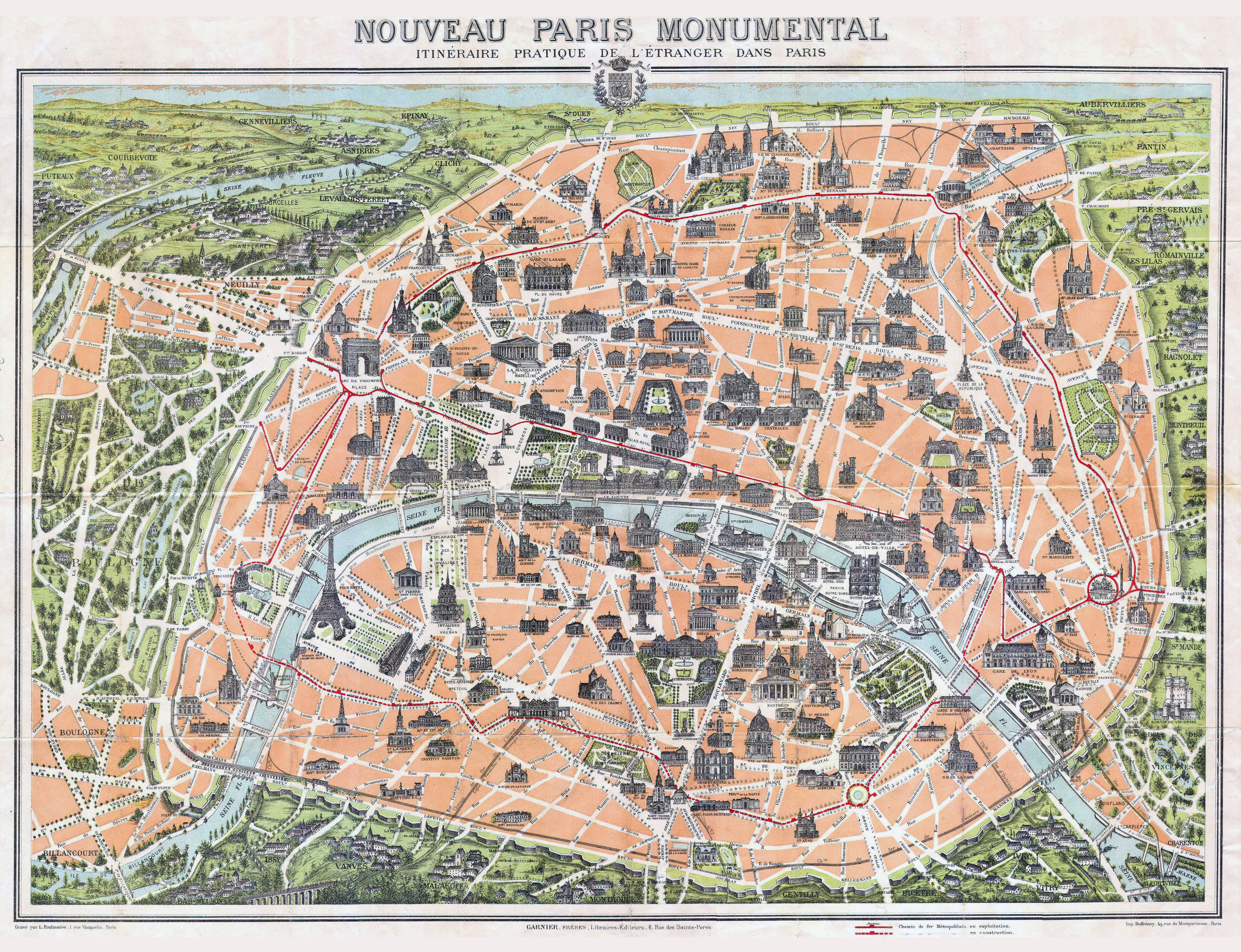 large scale old map of paris city 1900 vidiani maps of
