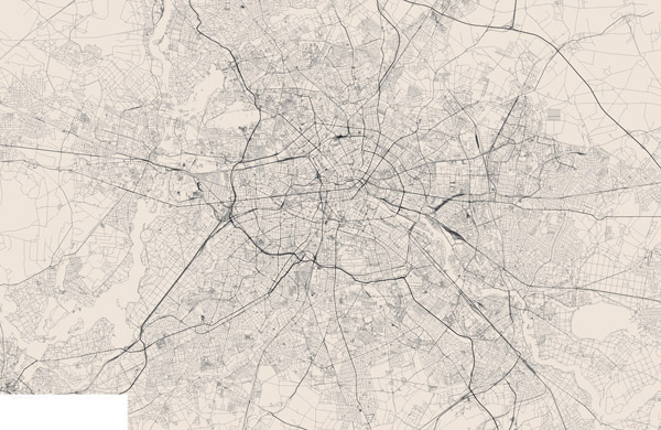 Berlin large detailed streets map. Berlin city, Germany.