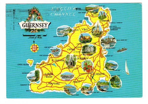 Travel map of Guernsey. Guernsey travel map.
