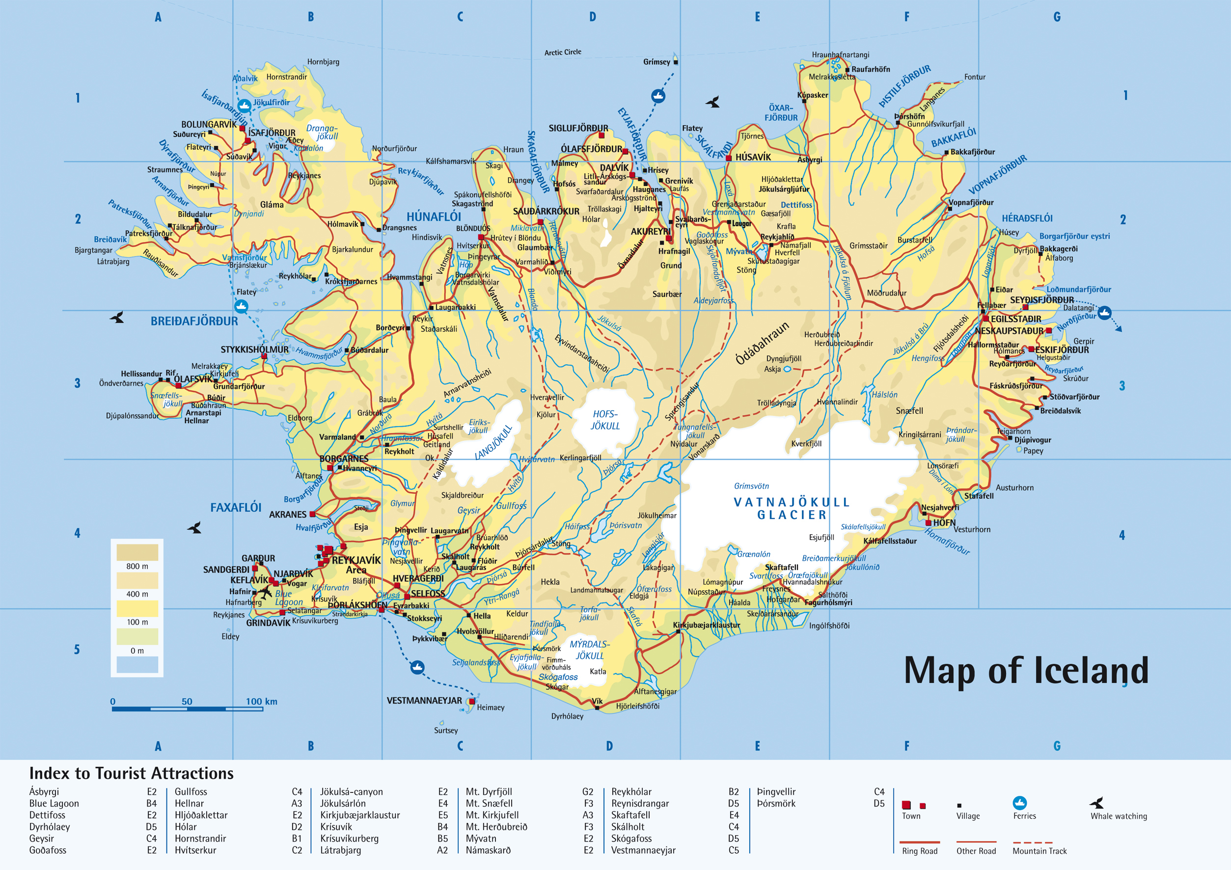 Detailed road map of iceland iceand detailed road map vidiani detailed road map of iceland iceand detailed road map publicscrutiny Gallery