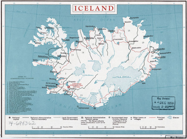 Large detailed administrative map of Iceland. Iceland large detailed administrative map.