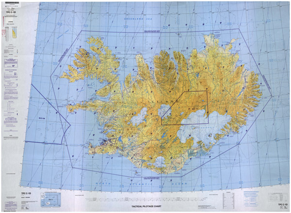 Large detailed topographic map of Iceland.