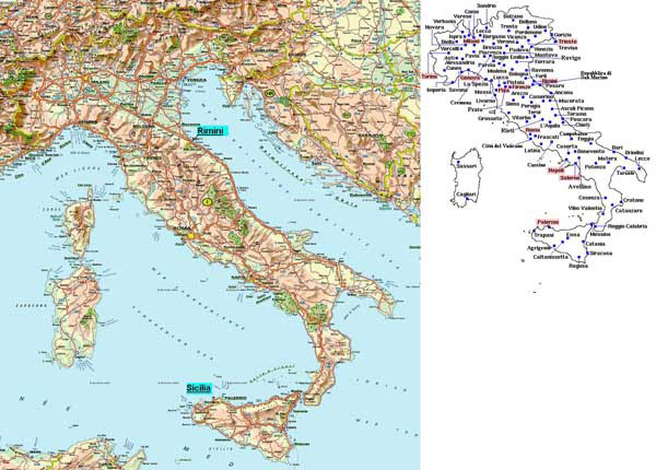 Small road map of Italy. Italy small road map.