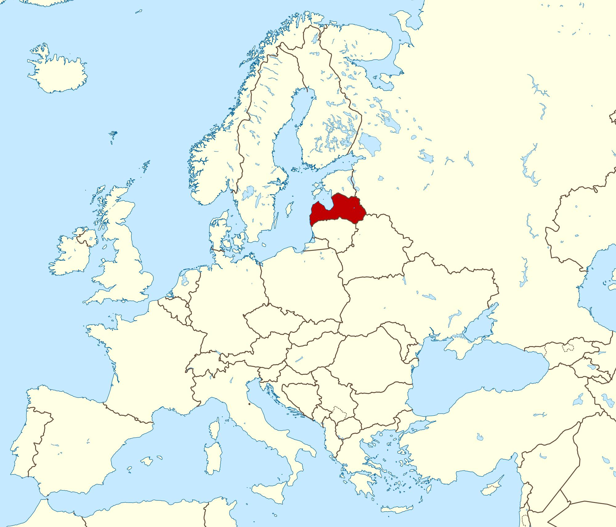 Large detailed location map of Latvia. Latvia large detailed ...
