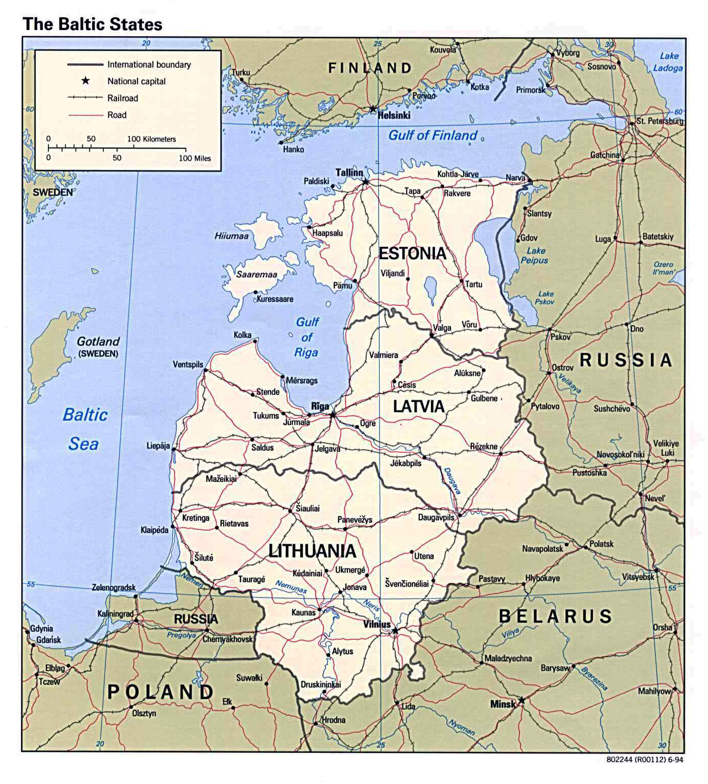 Large map of the Baltic States. The Baltic States large map ...