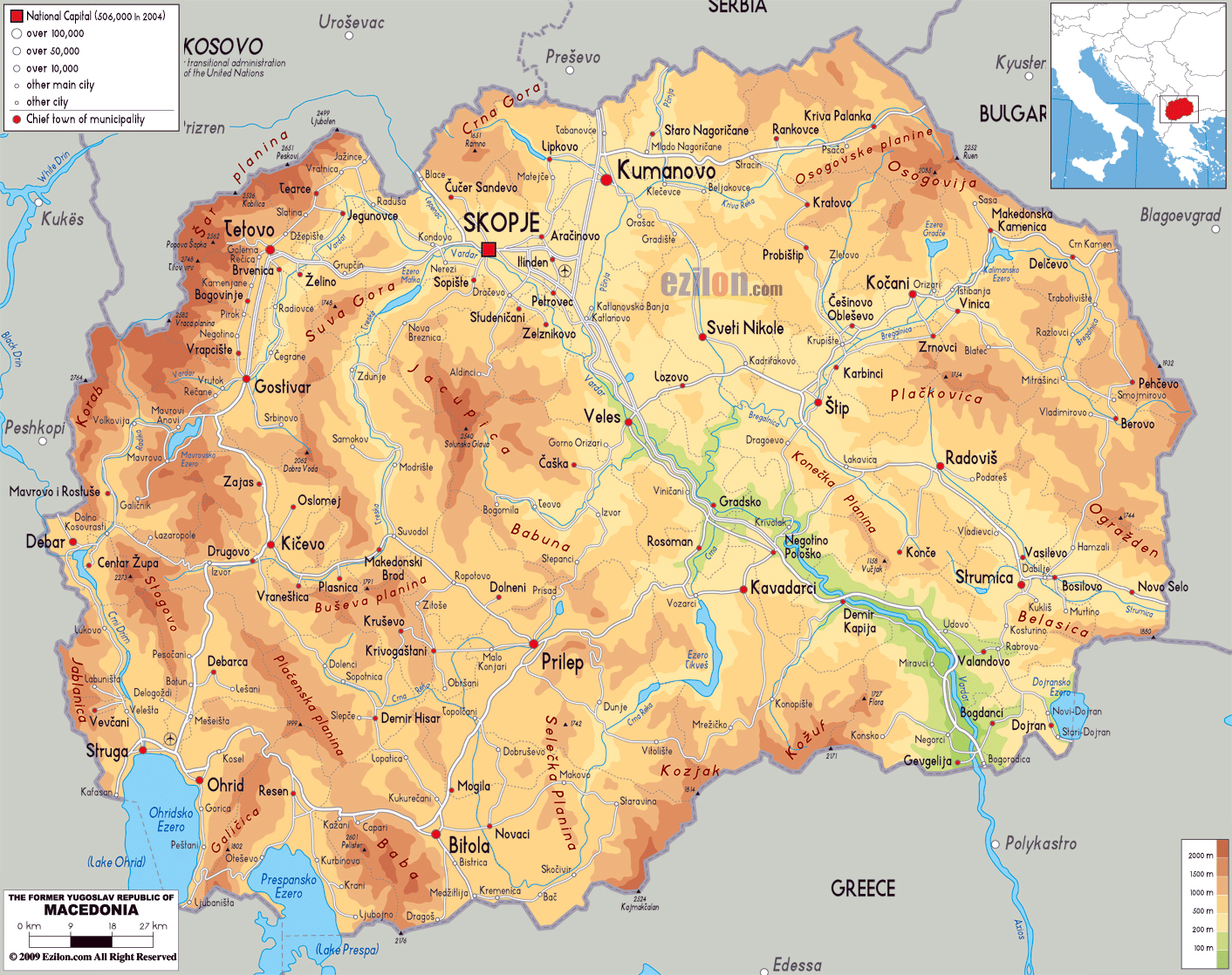 Large physical map of macedonia with roads cities and airports large physical map of macedonia with roads cities and airports publicscrutiny Choice Image