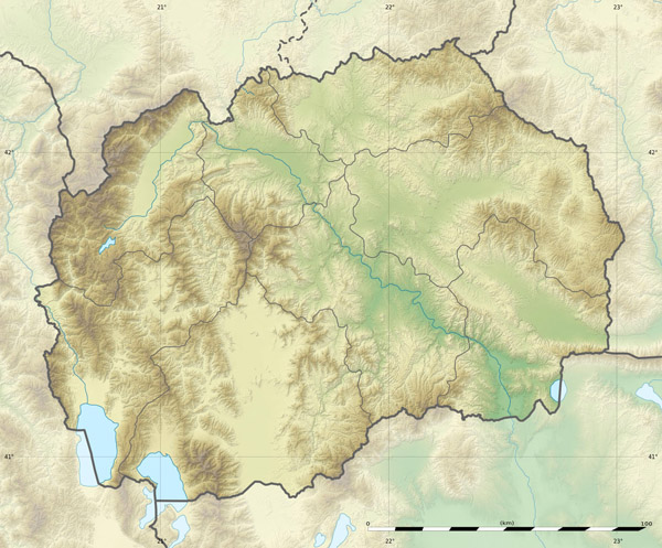 Large relief map of Macedonia. Macedonia large relief map.