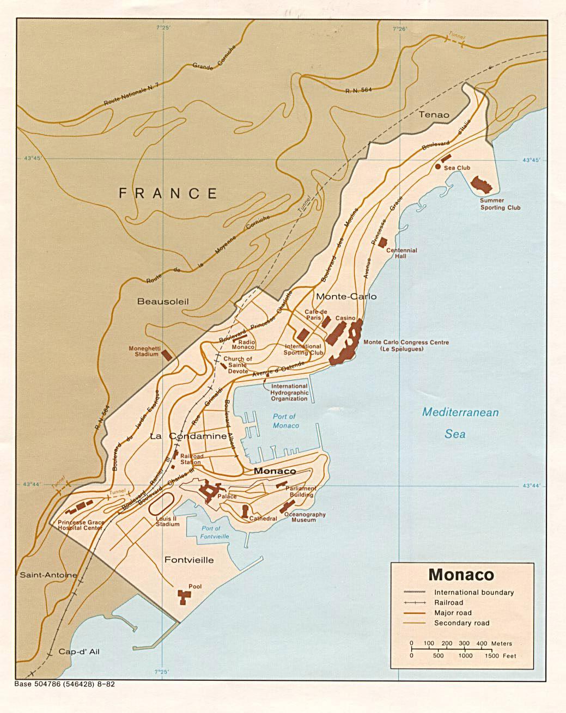 monako haritası
