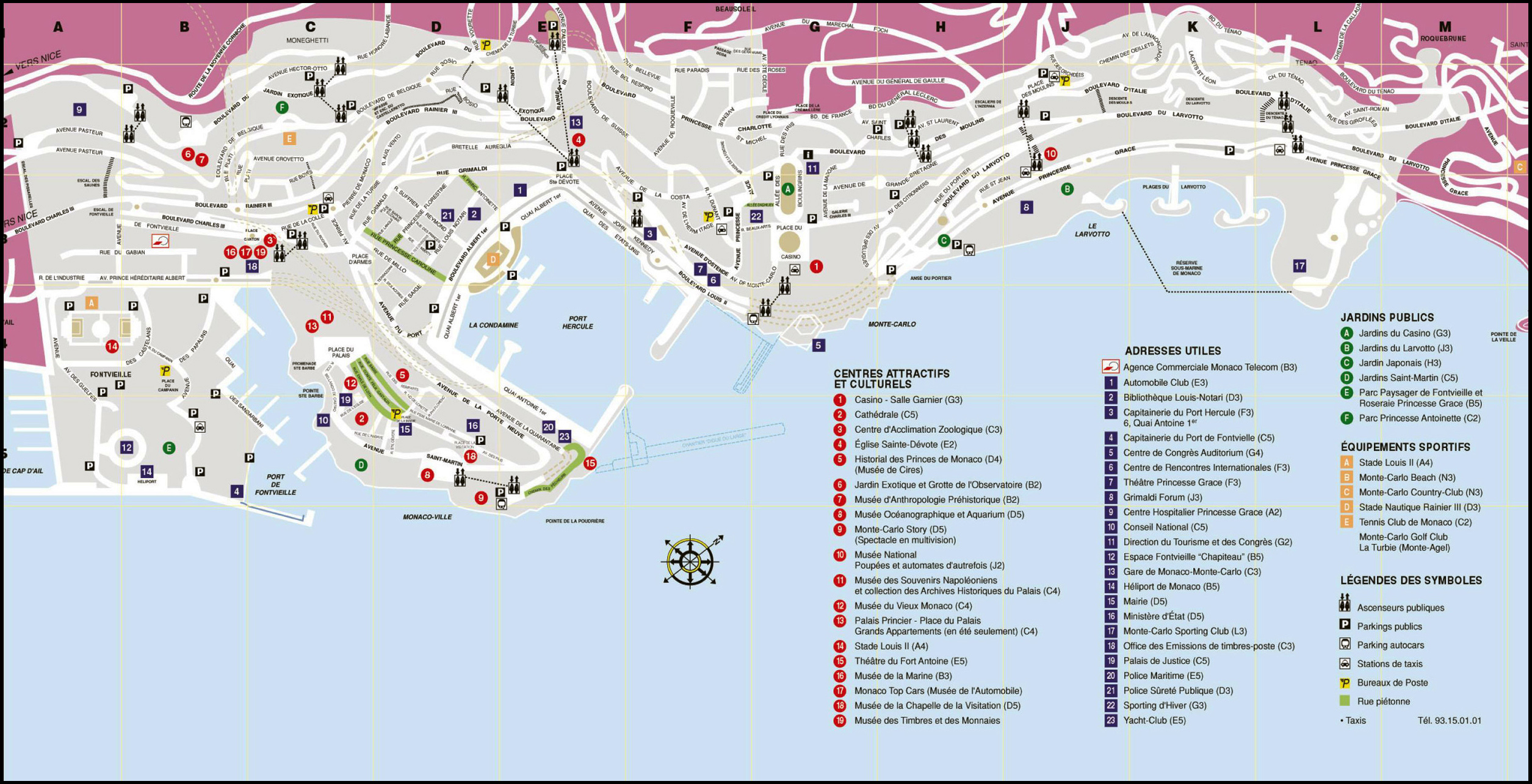 Image result for Road Map of Monaco