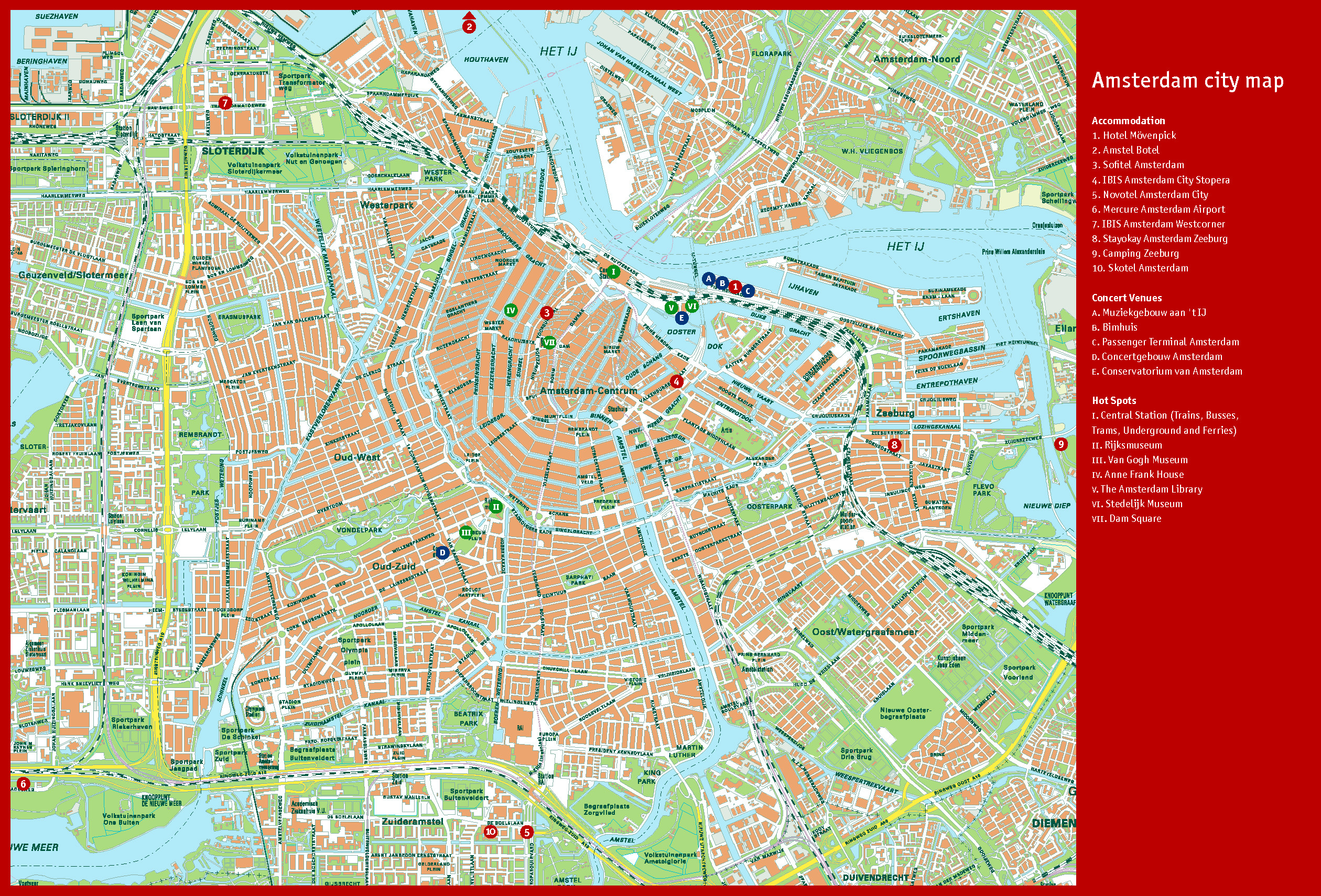 It is an image of Bewitching Printable Map of Amsterdam