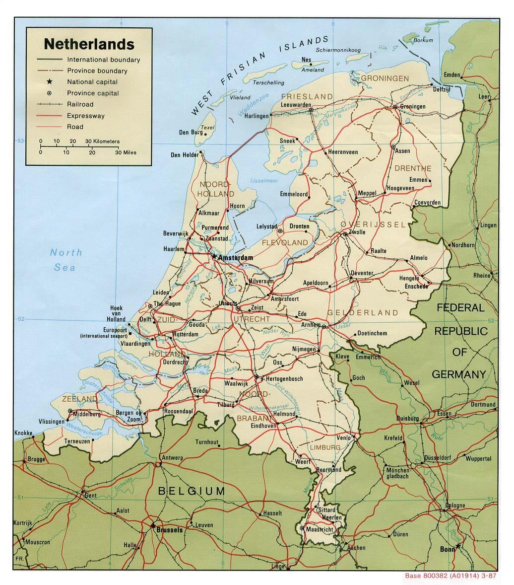 map niederlande