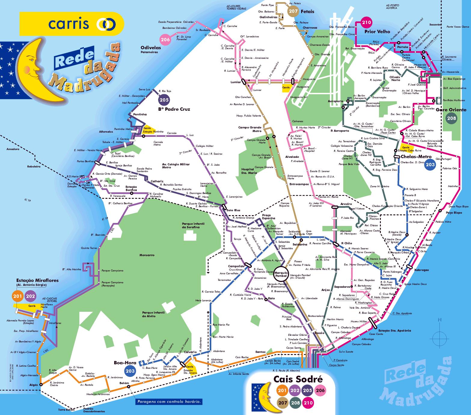 Large tourist map of Lisbon Lisbon city large tourist map Vidiani