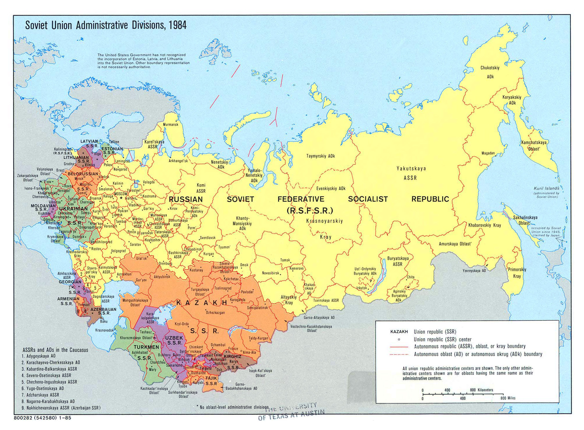 Large Detailed Administrative Divisions Map Of Soviet Union - Russia administrative map
