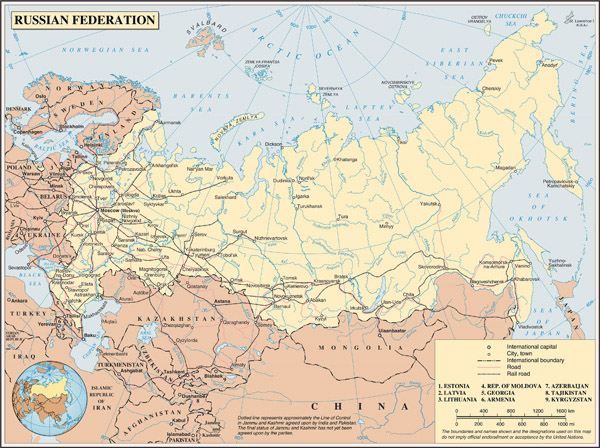 Large detailed road map of Russia. Russia large detailed road map.