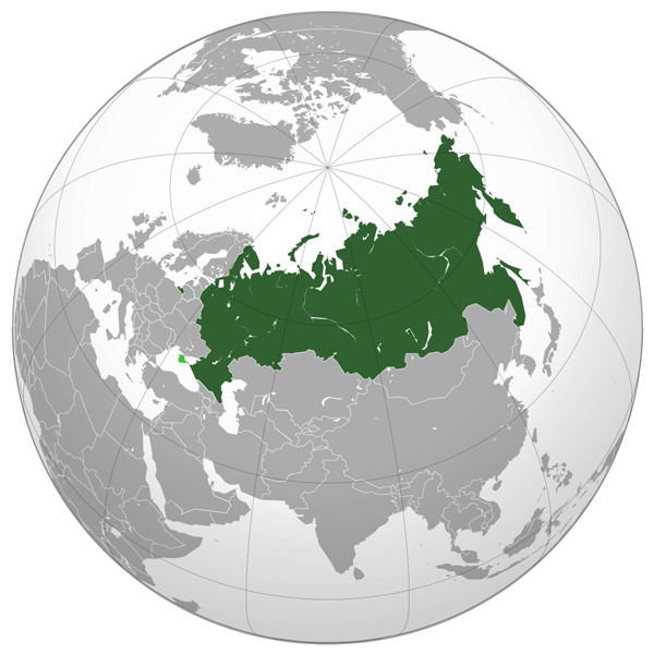 Where is located Russia on the map? Large location map of Russia.