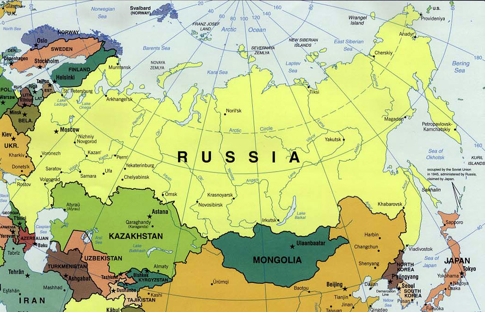 Political map of Russia. Russia political map | Vidiani.com ...