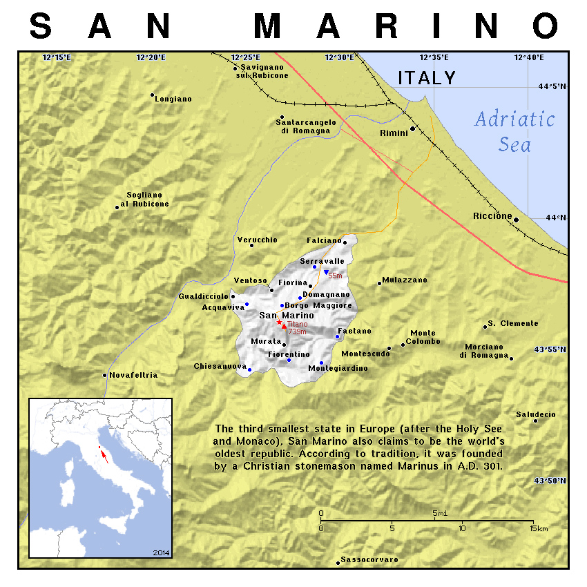 San Marino Physical Map