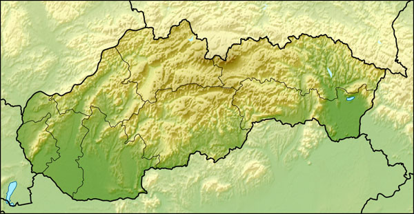 Relief map of Slovakia. Slovakia relief map.