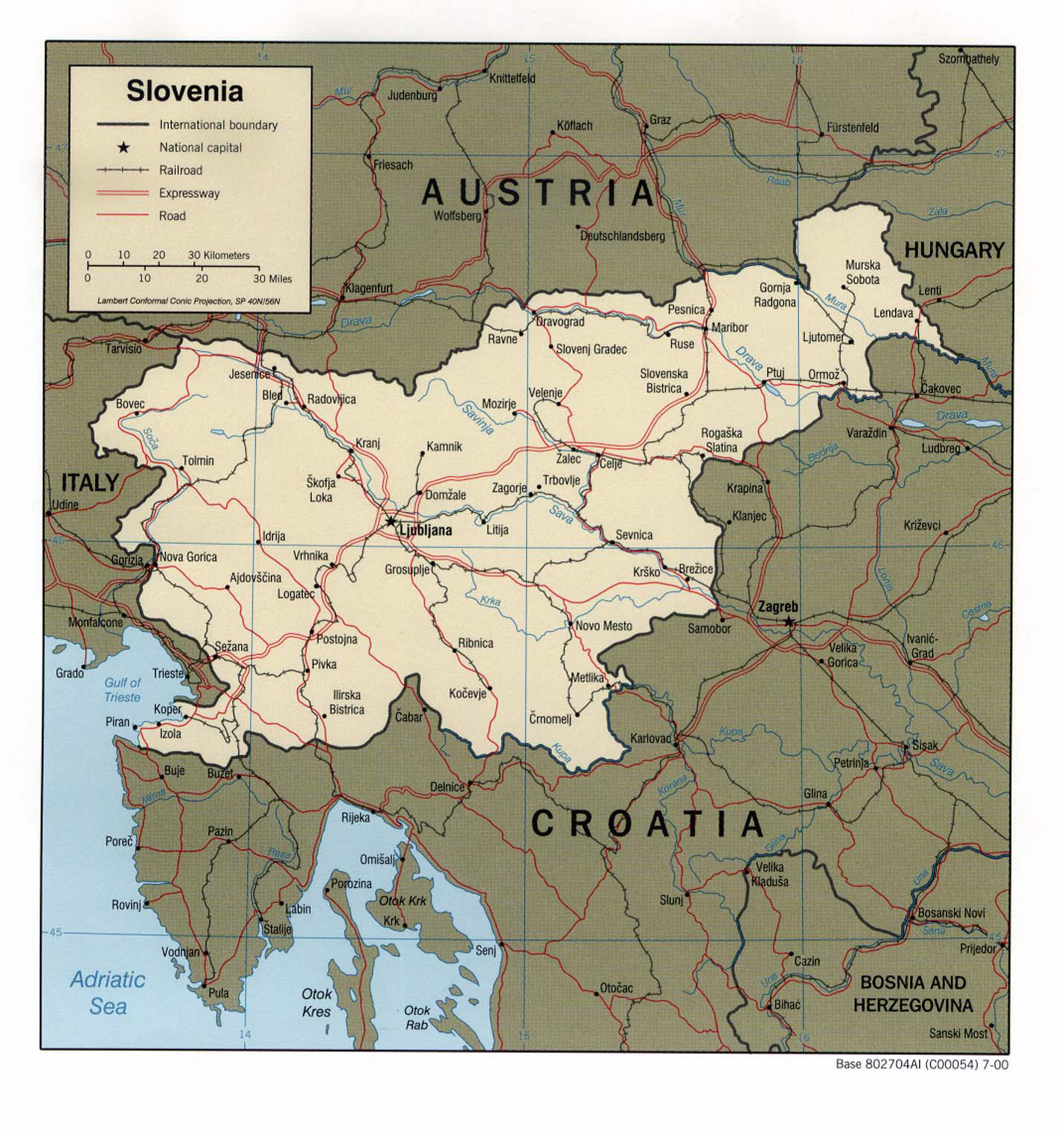 Map Of Slovenia - Road Map Of Slovenia