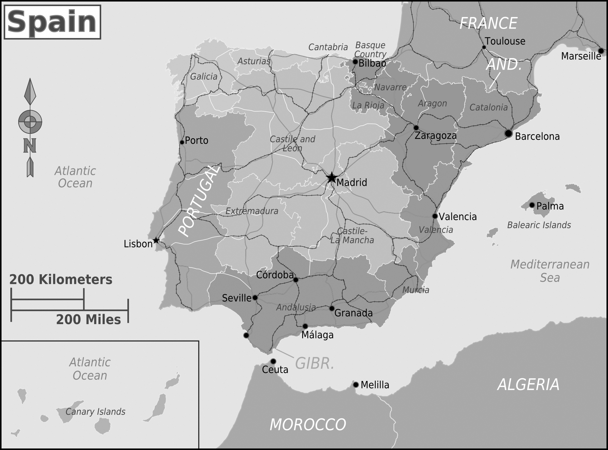 Map Of Spain Political.Detailed Political Map Of Spain Spain Detailed Political Map