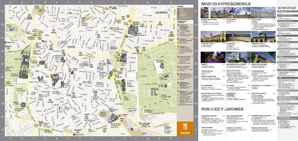 Large detailed tourist map of Madrid city. Madrid city large detailed tourist map.