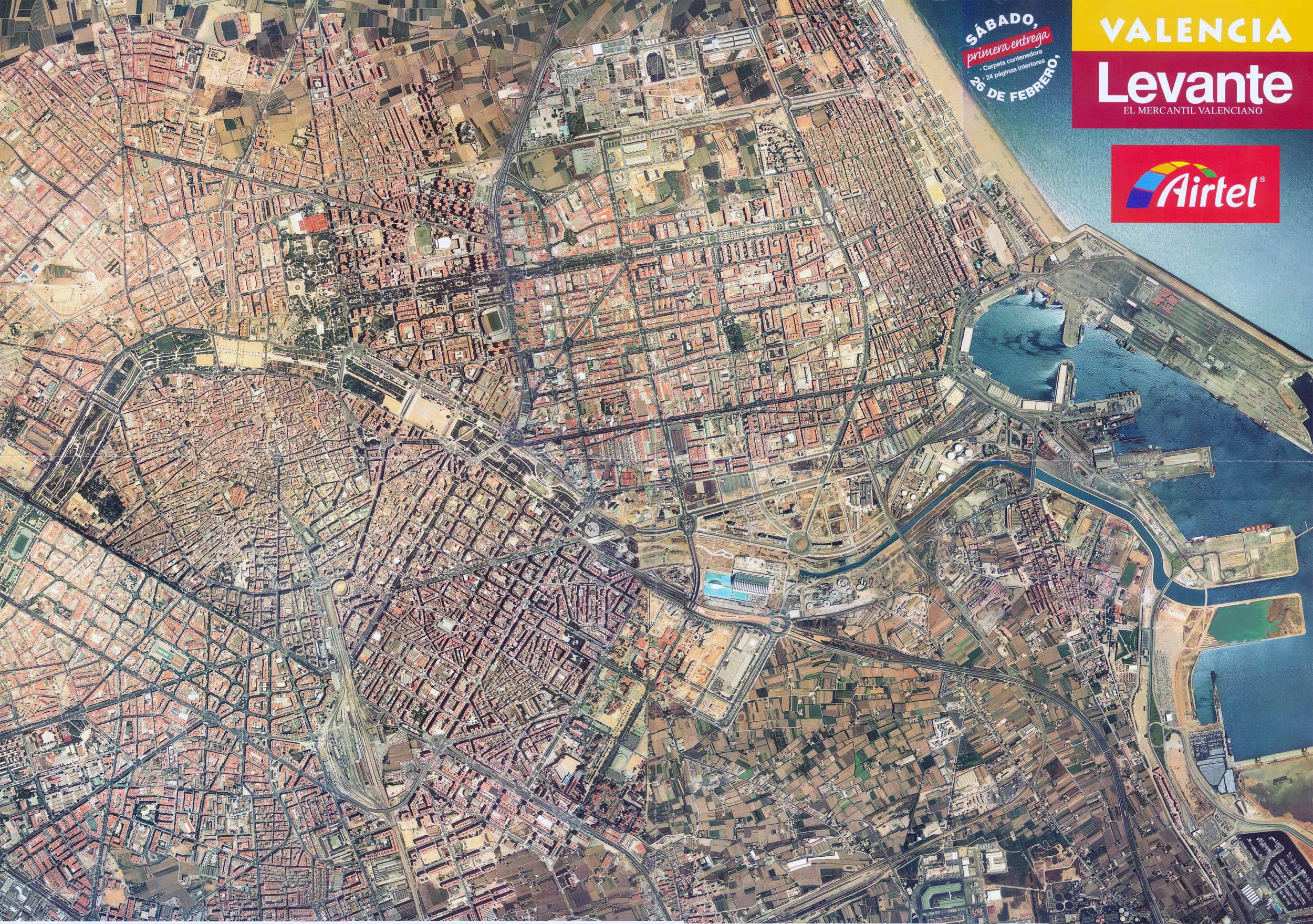 Satellite Map Of Spain.Detailed Satellite Map Of Valencia Valencia Detailed Satellite Map
