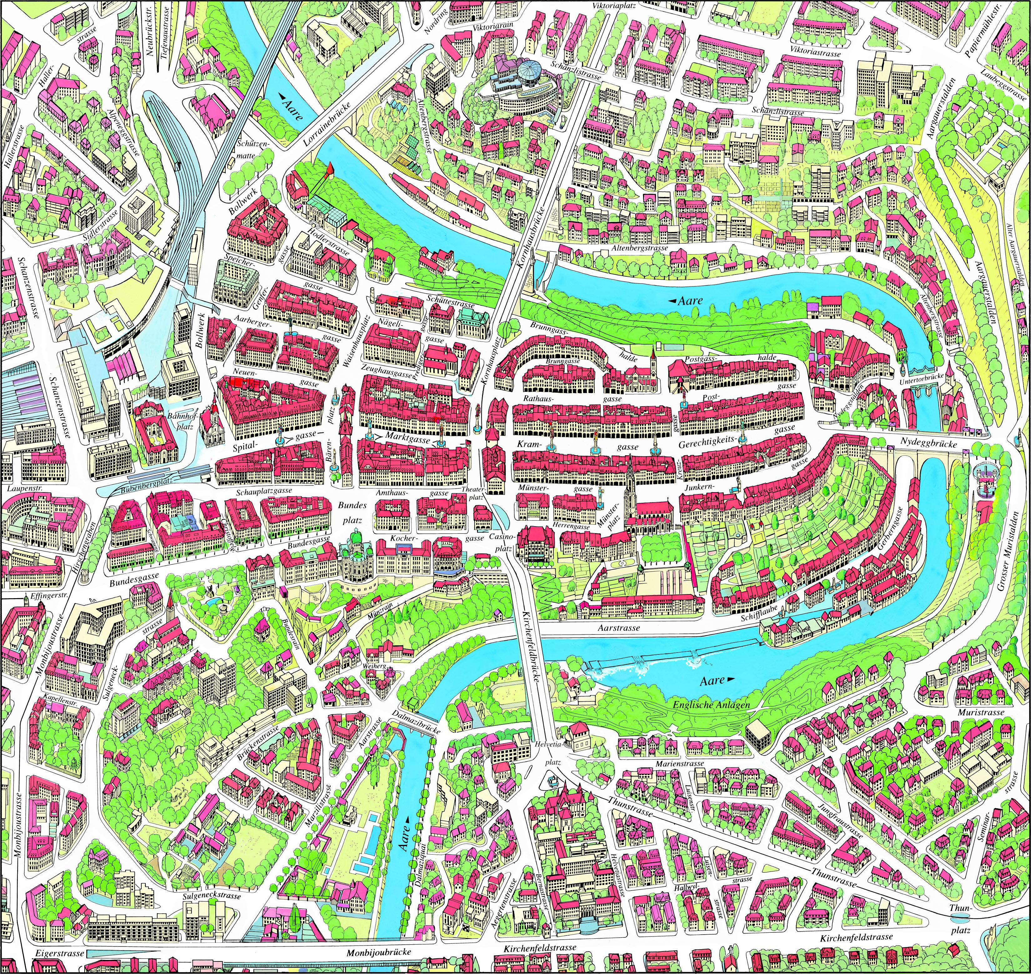 Bern Map | Maps Bern Map