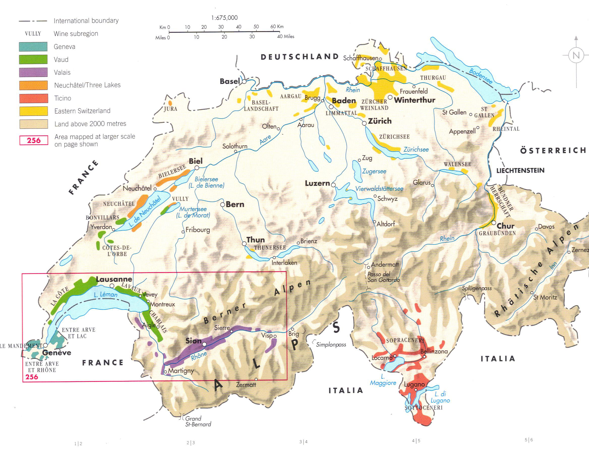 Detailed Physical Map Of Switzerland Switzerland Detailed - Physical of map venezuela