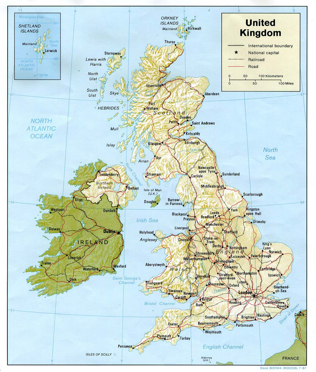 great britain maps: