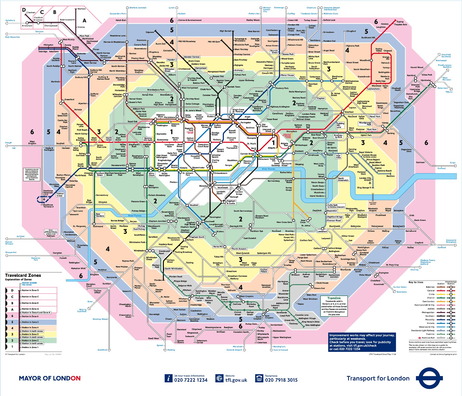 large detailed public transport zones map of london city london city large public transport zones map
