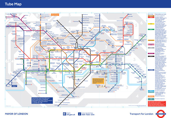 large detailed tube map of london city london city large detailed tube map maps. Black Bedroom Furniture Sets. Home Design Ideas