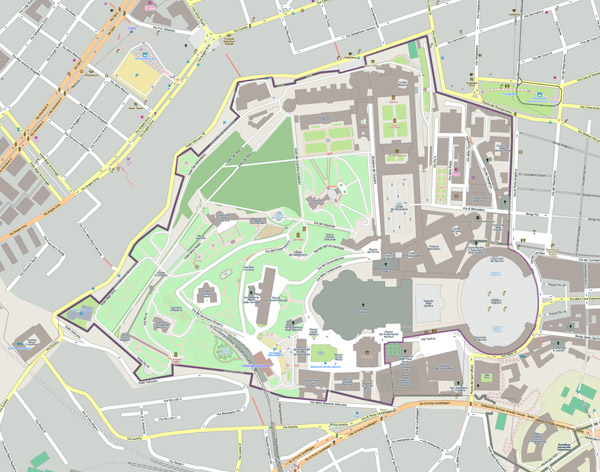 Large scale map of Vatican city. Vatican city large scale map.