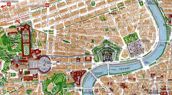 Vatican area map. Area map of Vatican.