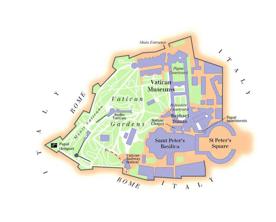 Vatican city map Map of Vatican Vidianicom Maps of all
