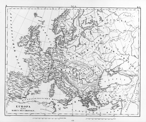Large detailed old map of Europe – 1851.