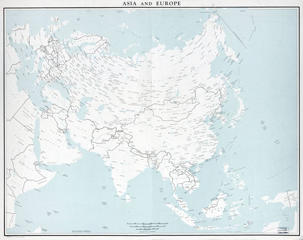 Large scale old political map of Asia and Europe - 1967.