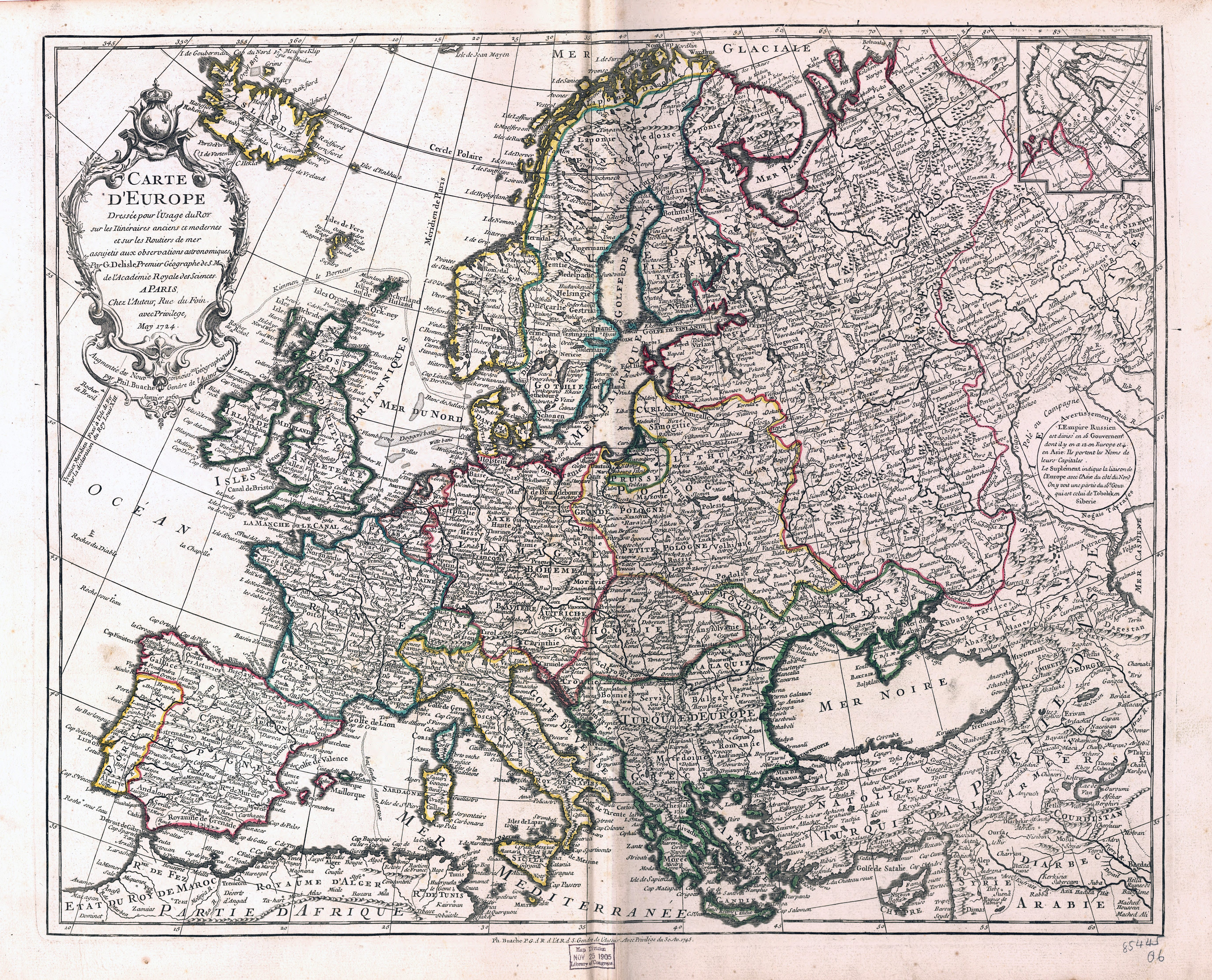 Map Of Europe With Scale.Large Scale Old Political Map Of Europe 1769 Vidiani Com Maps
